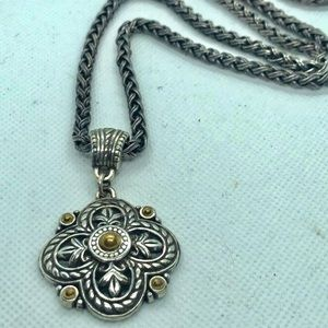 Vintage Brighton Fleur De Lis Clover Necklace